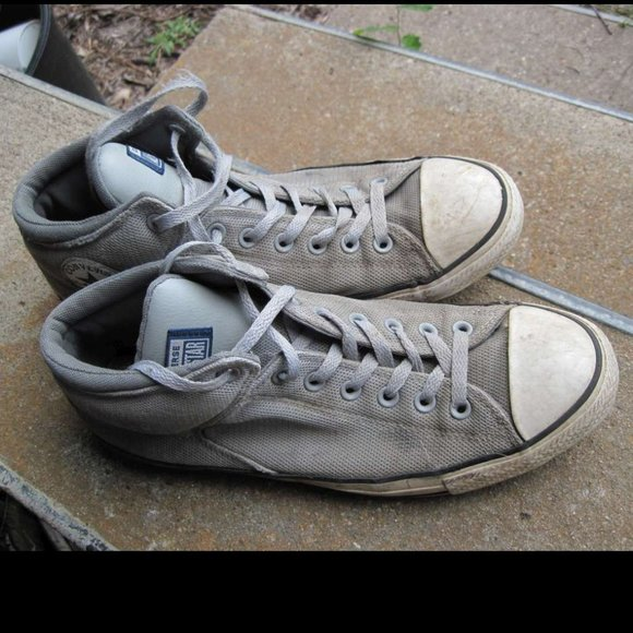 Gray Converse All Star Chuck Taylor High Top Shoes